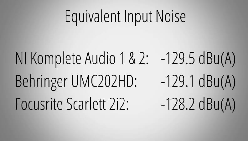 Native Instruments Komplete Audio 2の録音音質について