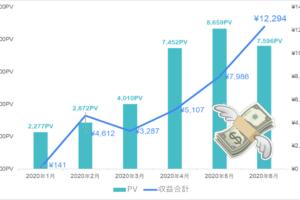 ブログ報告|PV1万以下でも1万円以上稼ぐ【2020年上半期】方法なども公開